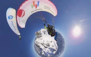 Gleitschirmfliegen am Nebelhorn 360 Grad VR Oberstdorf produktion