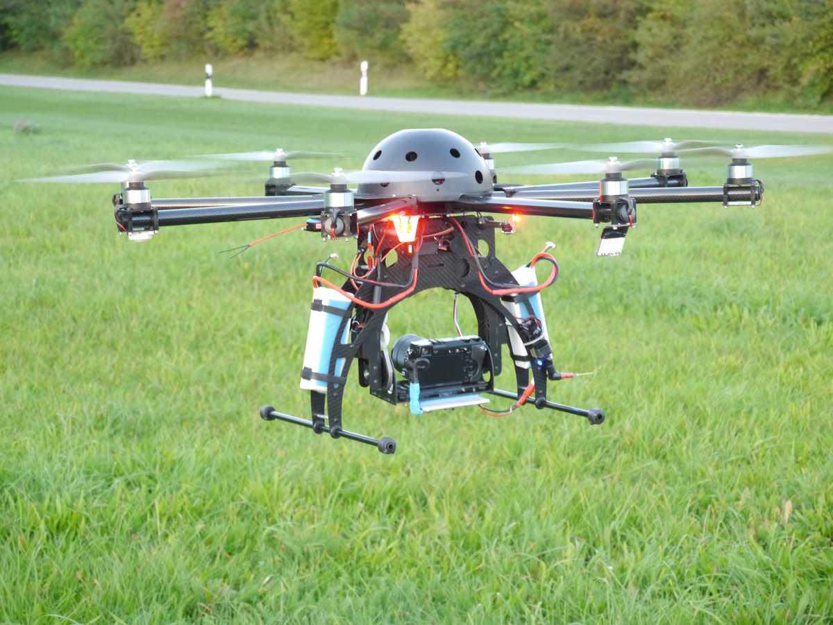 drohne oder multicopter octocopter