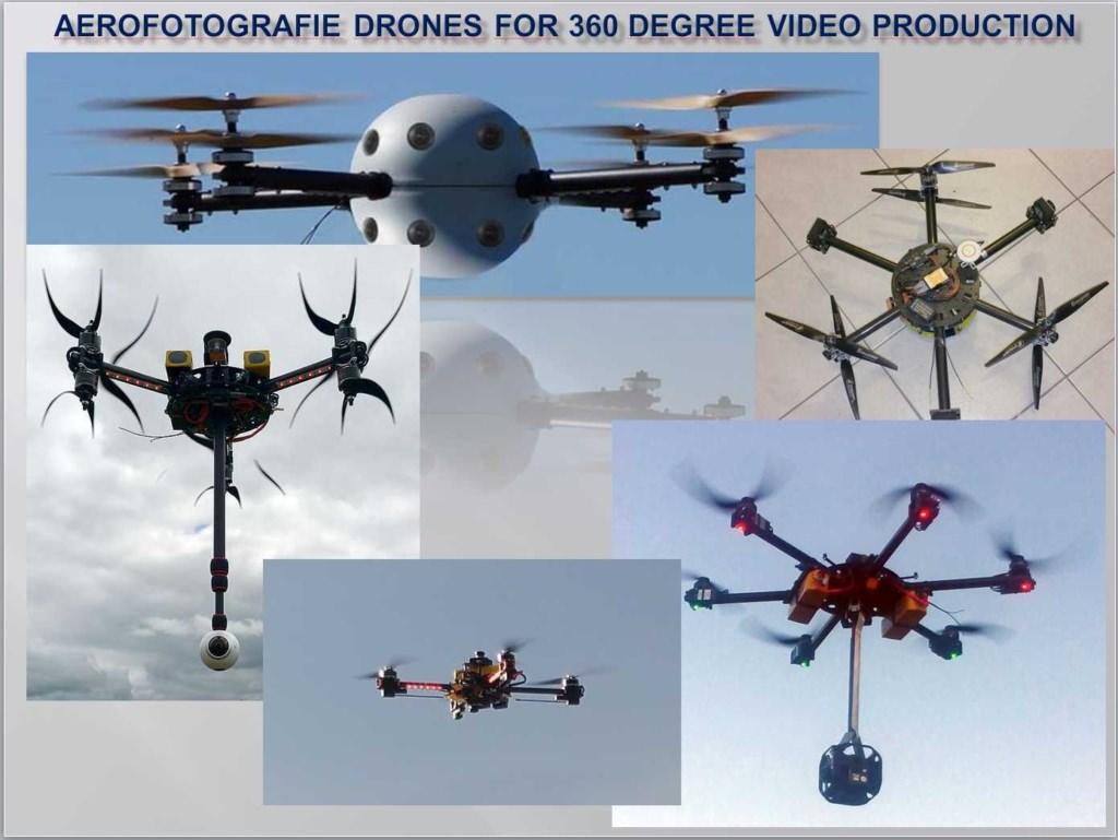 Aerofotografie Drones for 360 degree video production