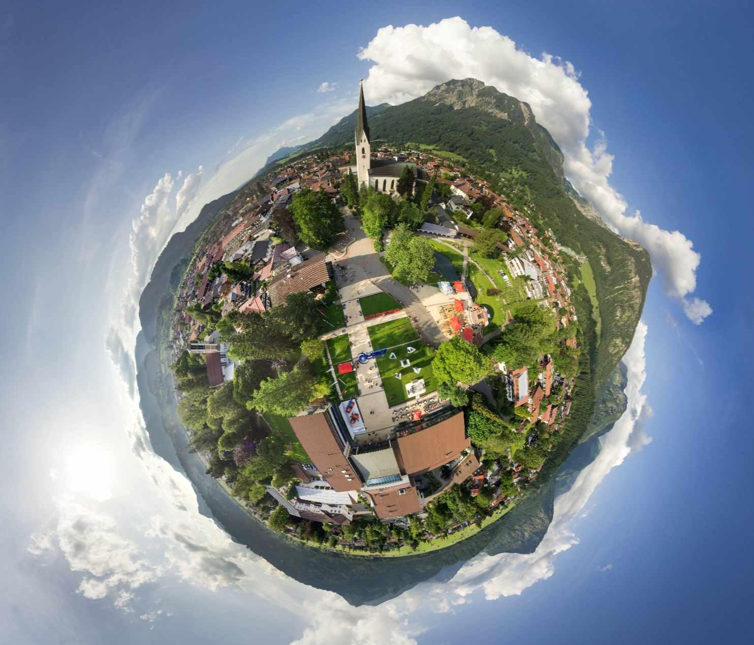 Luftaufnahme Fotogipfel Oberstdorf Haus nebelhornbahn fotogipfel oberstdorf luftbild