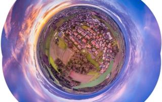 Frohe Weihnachten Aerofotografie Luftbild 360 Video