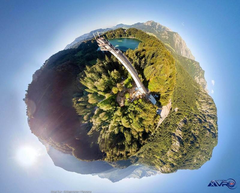 360 Grad Baustellendokumentation Skiflugschanze Oberstdorf