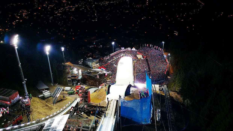 Vierschanzentournee Oberstdorf 360 grad video erlebnis