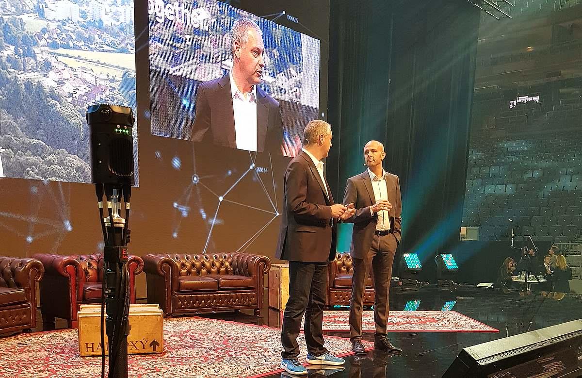 360 Grad Live Stream StartupCon, LANXESS Arena Köln Thyssen Krupp Microsoft