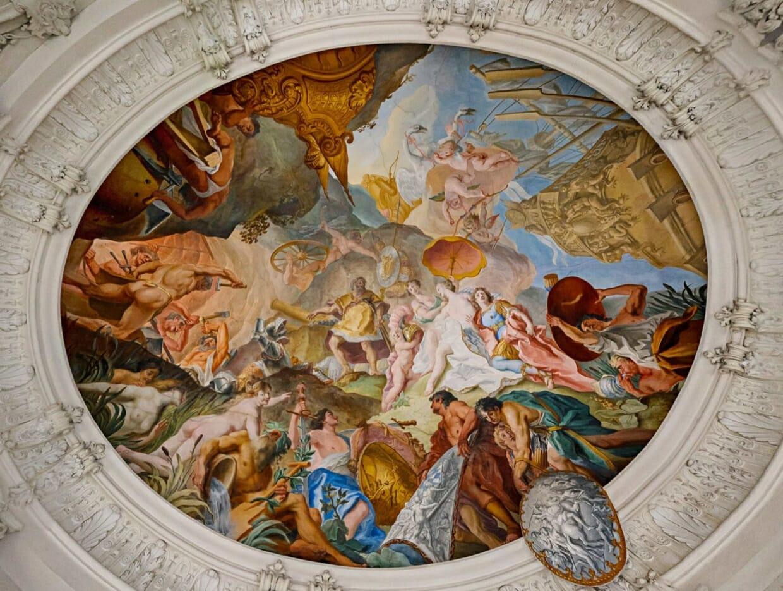 Virtueller Rundgang Neues Schloss Schleißheim Kuppel Gemälde