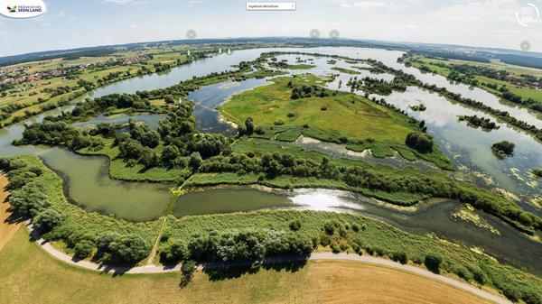Fränkisches seenland Bayern urlaub virtueller rundgang luftbild panorama touren 360° bilder